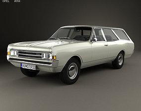 3D model Opel Rekord C Caravan 1967
