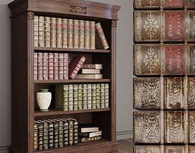 3D Old Books Library Panamar 825