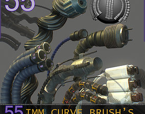 55 IMM Brushes Hoses And Tubes 3D asset