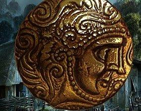 3D asset Celtic coin