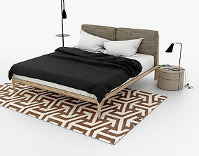 3D model Scandinavian style bedroom set