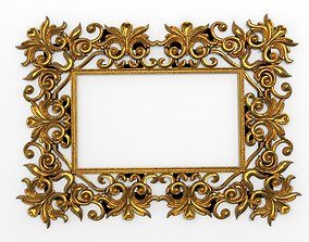wall carved frame 3D