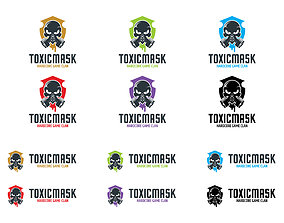 3D print model Toxic Mask Logo Template