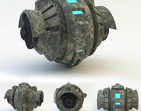 robot dron 3D asset