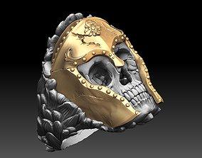 3D print model anatomical skull ring