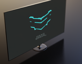 game-ready Game ready low poly computer monitor model