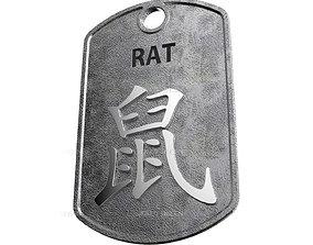 Rat Chinese Zodiac Pendant 3D printable model