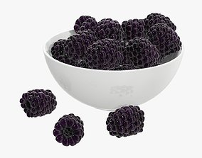 3D Blackberry in a bowl