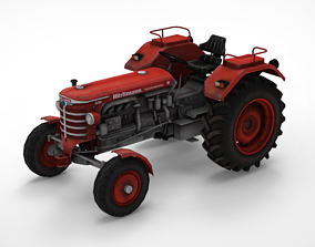 3D model Low Poly Tractor Huerlimann D110