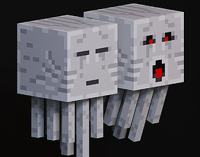 Ghast mob from minecraft 3D model
