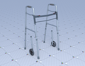 3D asset Elderly Walker