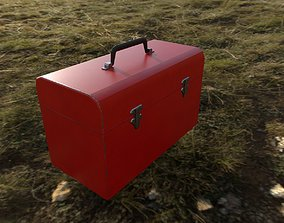 Toolbox Low-poly 3D model game-ready