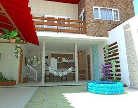 Projeto Edicula Casa nos Fundos 3D