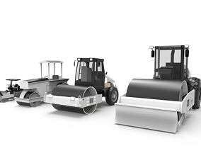 3D Roller Road Excavator