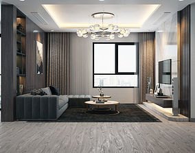 3D model Apartment Livingroom Modern livingroom-luxury