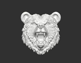 animals the head of the bear 3D print model