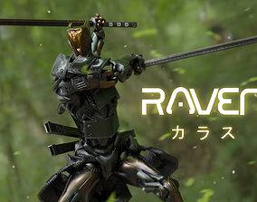 3D model Low Poly Robot - Raven