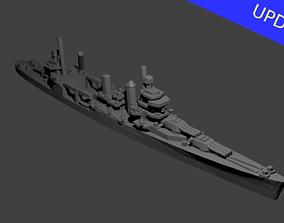 US New Orleans Class Cruiser Warship 3D print model