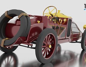 3D model rigged 1906 Renault Grand Prix