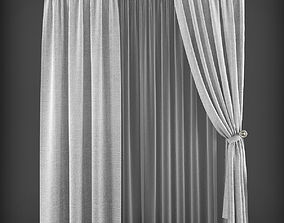 low-poly Curtain 3D model 219
