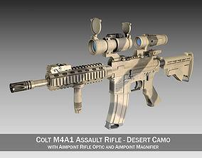 Colt M4A1 SOPMOD Aimpoint Desert Camo 3D camo