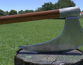 ORTAS AXE NO 7 HUGE STEEL REALISTIC AXE WITH LONG 3D asset