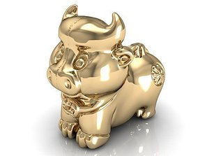 12 animal buffalo 3D printable model
