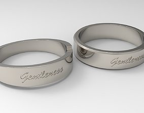 3D printable model Gentleness Couple Ring Platinum