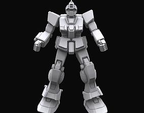 Gundam mobile suit MS RGM79 SC model rigged