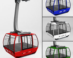 3D Ski lift gondola cable car