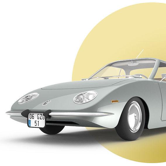 Vintage Coupe Car Design