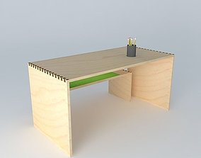 3D chair and desk