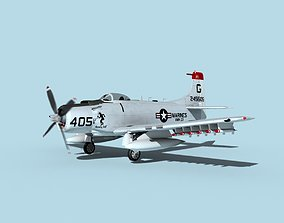 Douglas A-1H Skyraider V21 USMC 3D model
