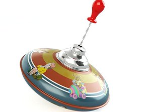 Vintage Classic Spinning Top 3D model