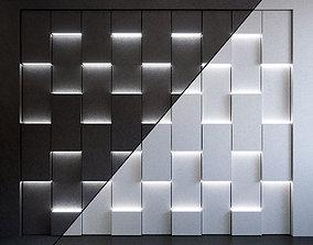 3D Wall Panel Set 91