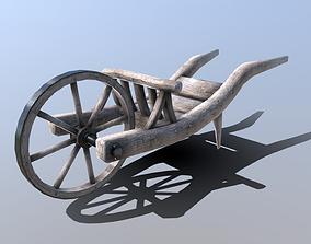 3D model Medieval Wheelbarrow