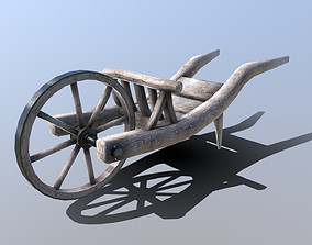 3D asset Medieval Wheelbarrow