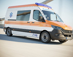 3D model German Ambulance van
