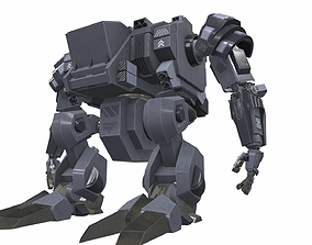 military Battle mech robot falum 5B 3D