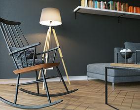 Photorealistic Livingroom Scene 3D