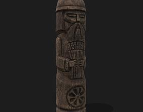 Dazhbog Wooden Figurine 3D asset
