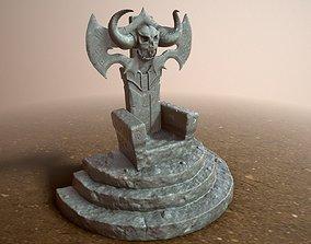 Stone Throne 3D model