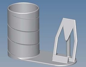 Smartphone holder and pencil cup 3D printable model