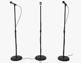microphone with stand 3D