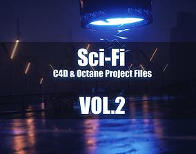 3D Sci-Fi - C4D Octane Project Files - VOL2