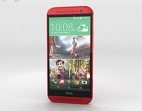 HTC One M8 Glamor Red 3D