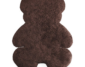 3D Bear Shaped Wool Carpet