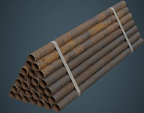 3D model Industrial Pipes 3B