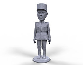 Charles De Gaulle stylized high quality 3D printable