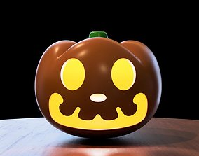Animal Crossing Pumpkin and Mask 3D print model pumpkin